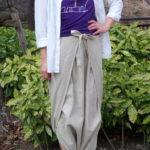 数量限定素材【パンツのようなスカートのような巨大ふんどし?】一枚袴™ コットンリネン