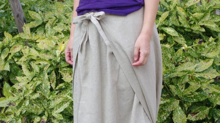 夏の新色!【パンツのようなスカートのような巨大ふんどし?】一枚袴™ コットンリネン