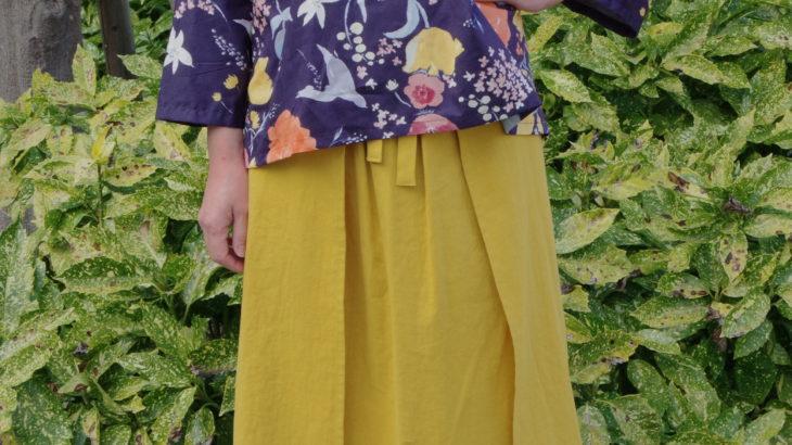 【NEWS】巻きスカートみたいな二枚袴™にコットンリネン登場!