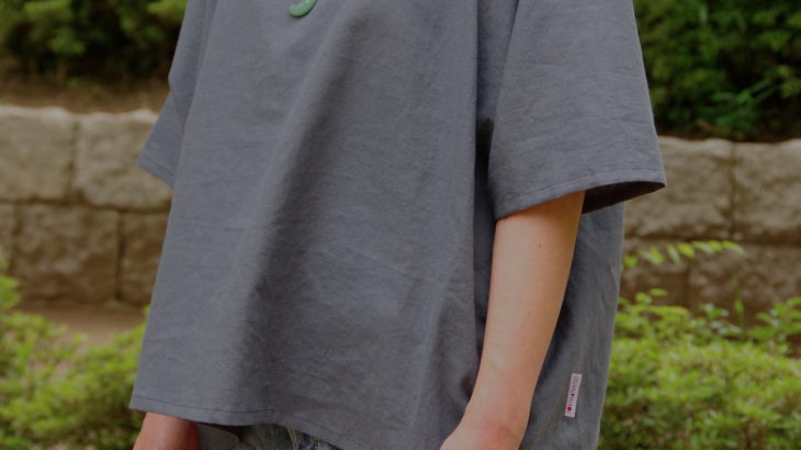 【綿麻素材】貫頭衣ショート丈 半袖 〜カラバリあり!11色展開〜