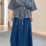 きんちゃくスカート™ コットンリネン ゴムも金具も使っていない!?